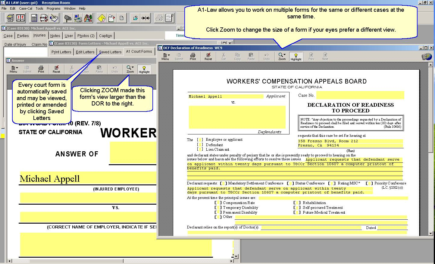 Court Forms Screenshot 2  Civil Summons Form